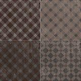 Retro tekstury tła wzoru tablecloth w klatce Obraz Royalty Free