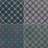 Retro tekstury tła wzoru tablecloth w klatce Fotografia Royalty Free