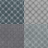 Retro tekstury tła wzoru tablecloth w klatce Fotografia Stock