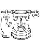 Retro- Telefon Lizenzfreie Stockfotografie