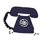 retro telefon för komisk tecknad film Royaltyfri Foto