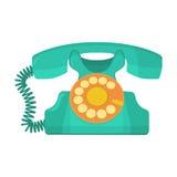 Retro telefon för objekt, gammal roterande telefon vektor illustrationer