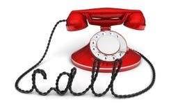 Retro telefon med royaltyfri illustrationer