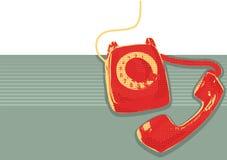 Retro- Telefon. Vektorgrunge Lizenzfreie Stockfotos