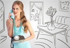 Retro- Telefonanruf Lizenzfreies Stockbild