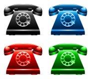 retro telefoner Fotografering för Bildbyråer