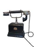 Retro telefono dell'annata con cavo isolato, Fotografia Stock