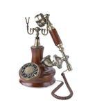 Retro telefono di legno Immagine Stock