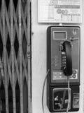 Retro telefono di paga pubblico Fotografie Stock Libere da Diritti