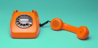 Retro telefono disegnato Immagini Stock
