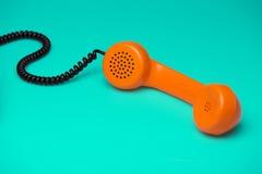 Retro telefono disegnato Fotografie Stock