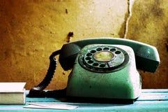 Retro telefono e carta Fotografia Stock Libera da Diritti