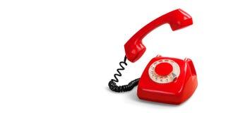 Retro telefono rosso immagini stock