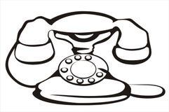 Retro- Telefonsymbol Lizenzfreie Stockfotos