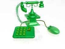 Retro telefoon, muis en toetsenbord royalty-vrije illustratie