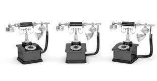 Retro Telefoon Uitstekende telefoons Royalty-vrije Stock Foto's