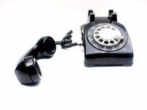 Retro telefoon, van de haak Stock Afbeelding