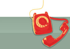 Retro telefoon. Vector grunge Royalty-vrije Stock Foto's