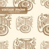 Retro Telefoon wijnoogst royalty-vrije illustratie