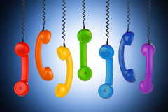 Retro telefoonconcept stock illustratie