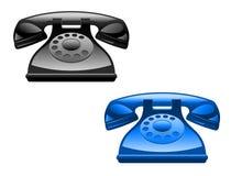 Retro telefoons vector illustratie