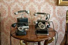 Retro telefoons royalty-vrije stock fotografie