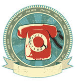 Retro telephon sign.Vintage Stock Photo