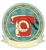 Retro telephon sign.Vintage Stock Photo