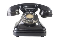Retro telephone 2. Retro telephone isolated on white whit clipping path Royalty Free Stock Image