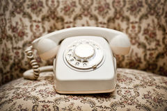 Retro telephone. A retro rotary dial telephone