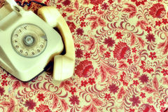 Retro telephone stock images