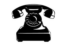 Retro telephone. Vector illustration of an old telephone Stock Images