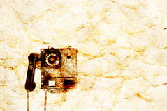 Retro telephone aged grunge textured Stock Photos