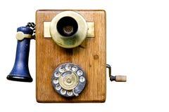 Retro telephone. Antique telephone on white background Royalty Free Stock Photography