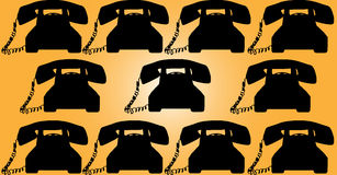 Retro telephone background Royalty Free Stock Photos