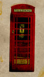 Retro Telephone Booth vector illustration