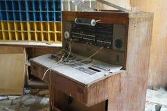 Retro telephone exchange royalty free stock photo