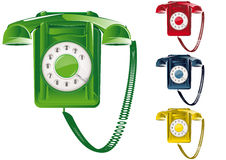 Retro Telephone Illustration Stock Image