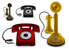 Retro telephone -  illustration Stock Photography