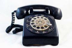 Retro telephone. Now, this telephone type is rare item Stock Image