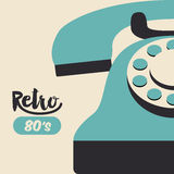 Retro telephone  poster isolated icon design Royalty Free Stock Photography