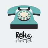 Retro telephone  poster isolated icon design Royalty Free Stock Images