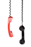 Retro telephone receiver. On white background Stock Photography