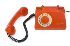 Retro telephone and receiver Royalty Free Stock Photos