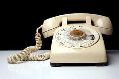 Retro telephone with rotary dialing Royalty Free Stock Photography