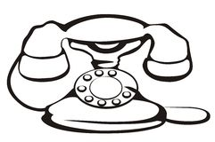 Retro telephone symbol Royalty Free Stock Photos