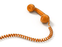 Retro telephone tube Stock Images