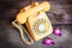 Retro telephone. Royalty Free Stock Photos