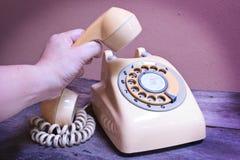 Retro telephone. Stock Photos