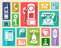 Retro telephone web icon Stock Photo